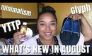 NEW IN AUGUST 2019 HAUL |  ONE IN ONE OUT DECLUTTER Rule ~ Minimalism | MelissaQ
