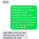 Text between my prince & I