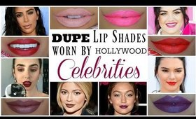 DUPE ALERT! Lipstick Shades Worn by Hollywood Celebrities | CRUELTY FREE | AIRAHMORENATV