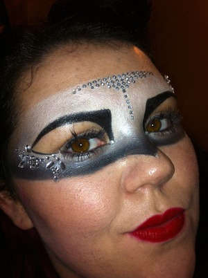 Glitter mask I did for a party