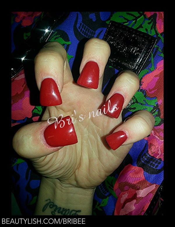 Flare/Duck Tip Short Red | Brittany G.\'s (bribee) Photo | Beautylish