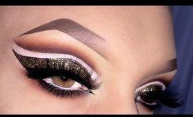 Sexy Arabic Cut Crease with Glitter Makeup Tutorial المكياج العربي