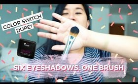 Six Shadows, One Brush | Color Switch Dupe?! Swisspers Instant Brush Cleaner