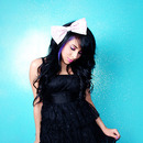 Big-Bow- Black-Dress- Black-Hair-
