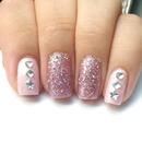 Pink glitter & Rhinestones :*