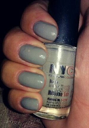 had to swatch this color! I love this opaque cement gray!! my favorite so far!! :)