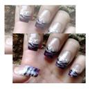 Gradient purple zebra