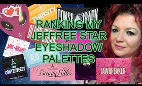 Ranking my Jeffree Star Eyeshadow Palettes