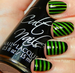 A striped look featuring Cult Nails products
