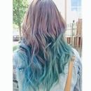 Blue & green hair.