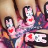 Cute Pink Bunny Nails