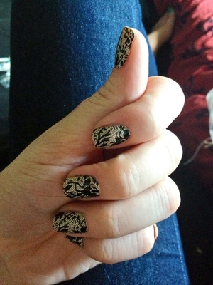 Lacy nail wraps (my first time doing nail wraps)