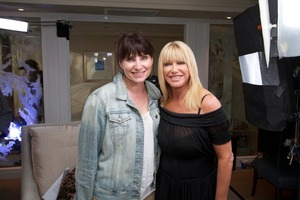 Suzanne Somers and I on set for LifeWave - personal artist