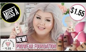 Testing The NEW Shop Miss A AOA Studio Pro Wear Foundation