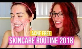 I'M ACNE FREE! My Updated Skincare Routine 2018 (Accutane & Sensitive, Dry Skin)