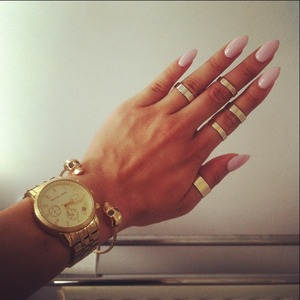 Stiletto white violet nails!