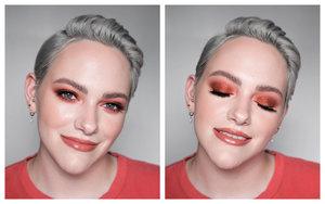 Eyeshadows are Melt Cosmetics Twenty Seven Palette and Estée Lauder x Violette Burning Star Glitter Pot Lipstick is Charlotte Tilbury American Sweetheart  Full makeup details here: https://www.instagram.com/p/B1Hew2mFNjI/