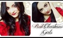 ✷RED XMAS GIRL - red eyeliner and lips - Makeup Tutorial (mega collaborazione)✷