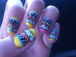 Tribal Aztec nails
