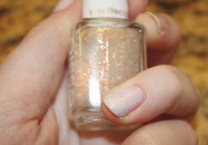 Closeup on Shine of the Times over Adore-A-Ball. This is about one coat.