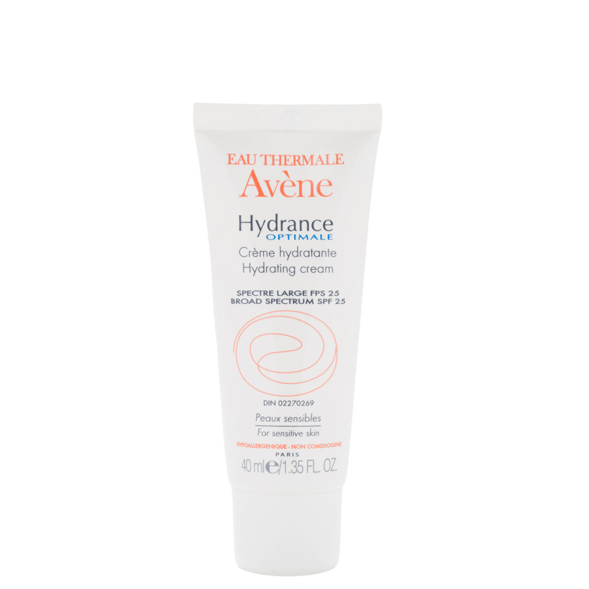 Eau Thermale Avène Hydrance Optimale SPF 25 Hydrating Cream product swatch.