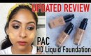 UPDATED: PAC HD LIQUID FOUNDATION REVIEW & SWATCHES   24 Shades   Stacey Castanha