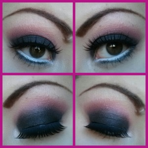 I used my sculptbeauty 180 palette Urban decay primer potion Nyx pencil milk Nyx lip pencil in dolly pink