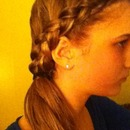 French braid/ponytail