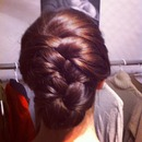 French braid tuck