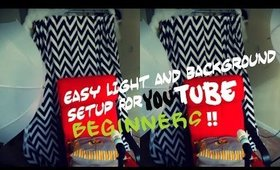 Easy Light And Background Setup For Youtube Beginners!!