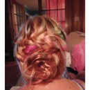 French flower messy bun