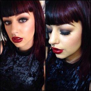 Vampy makeup look. I love dark colors!