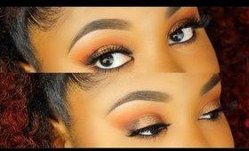 Warm Orange & Golden Bronze Eyes Fall Makeup Tutorial | Samirah Gilli