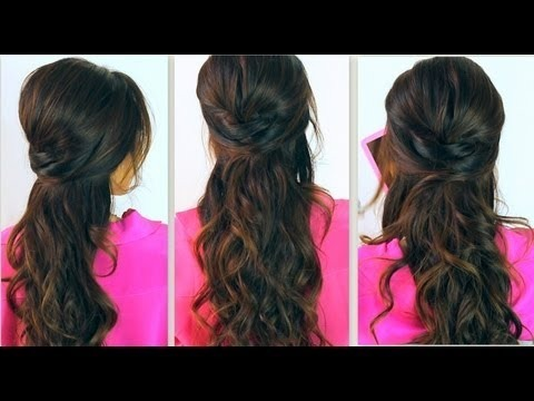 Strange Cute Back To School Hairstyles Everyday Poofy Curly Half Up Hairstyles For Women Draintrainus