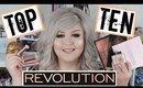 Top 10 Favorite Makeup Revolution Products | Dec 2018