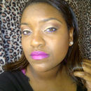 Hot pink lips too