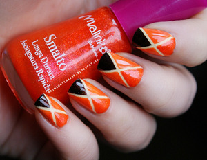 More photos here  - http://rainbowsinajar.blogspot.ro/2013/02/orange-nails-colaborare-31-teme-de.html