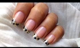 Leopard nail art tutorial In french tip nails designs for beginners cute nail polish ideas DIY