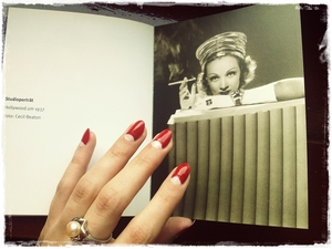 Reading a book about the fabulous Marlene Dietrich. http://www.iddavanmunster.blogspot.com/2012/06/half-moon-vintage-nails.html