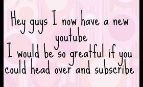 New youtube channel ***Link in Description***