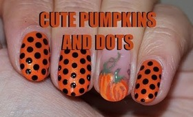 Cute Pumpkin Nail Design