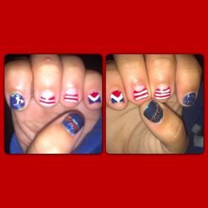 My sisters short nails.
