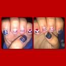 Patriotic short nails