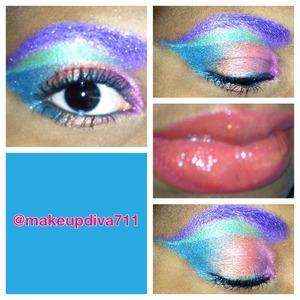 #abstract #rainbow #colors #colorful #eyemakeup #eyelook #beauty #beatface #makeup #makeupbyme #makeupaddict #makeupdiva711 #makeupismypassion #followme #followmakeup #purple #pink #orange #blue  #green #eyes #eyebrows #coloredeyebrows #lips #lipcolor #freelance #art
