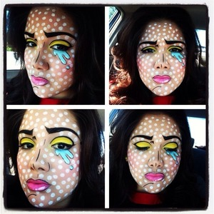 Pop art makeup vcruzbebe