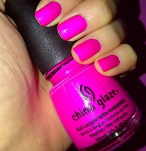 a bright neon purple/pink shade