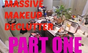I HAVE TOO MUCH MAKEUP!! │Massive Decluttering Part 1