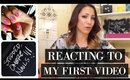 LIVE: REACTING TO MY FIRST VIDEO