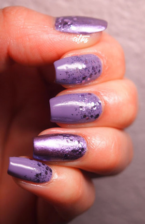 USED: OPI Planks A Lot, Avon Mirror Shine Polish, and Milani glitter Lavender