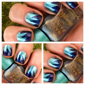 Polishes used barry m aqua and opi russian navy